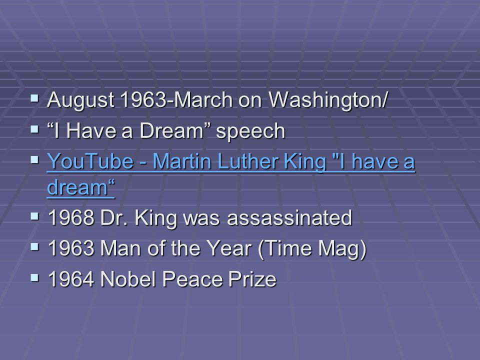 August 1963-March on Washington/