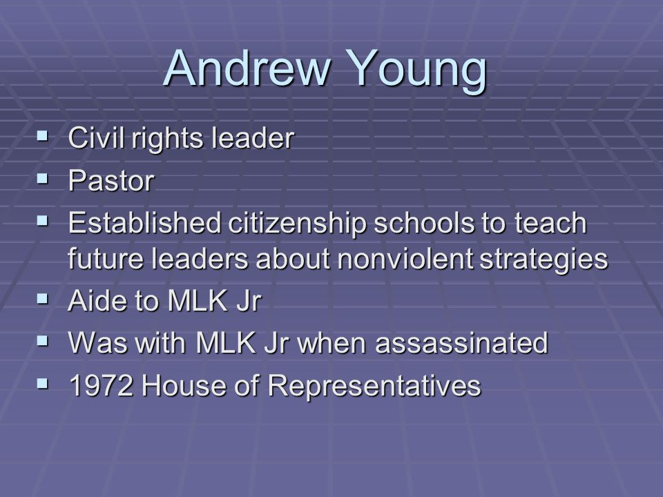 Andrew Young Civil rights leader Pastor