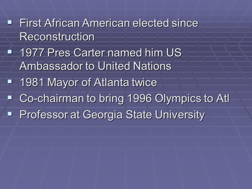 First African American elected since Reconstruction