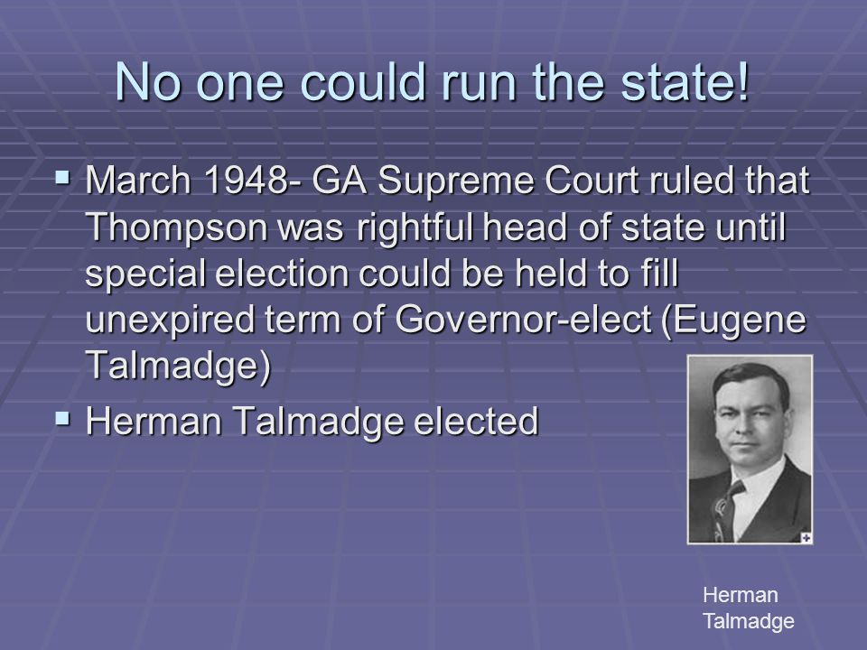 No one could run the state!