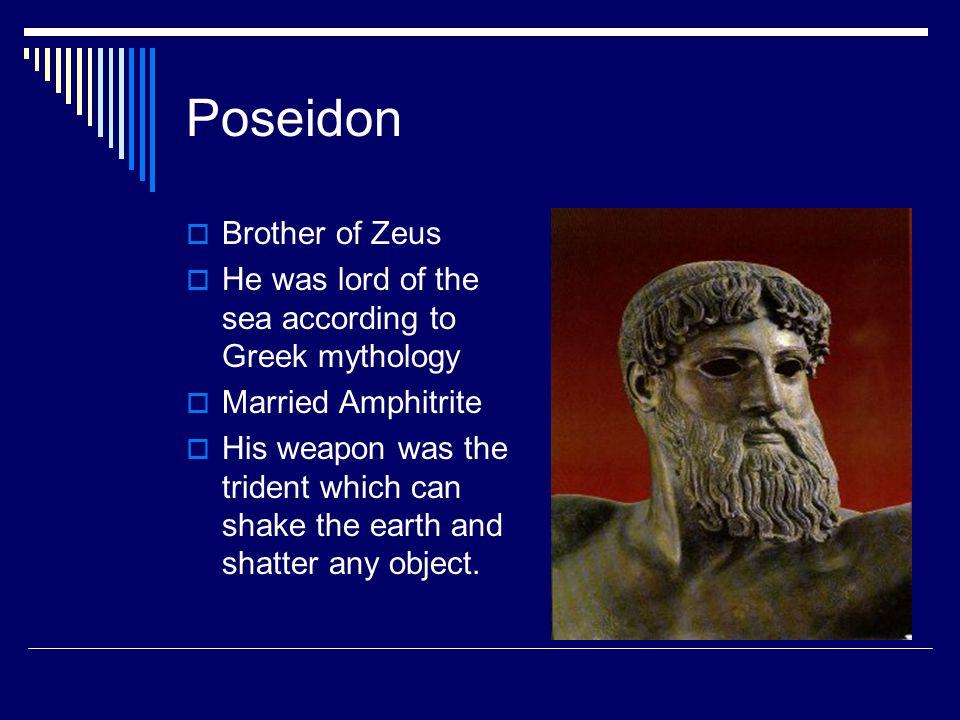 Poseidon Brother of Zeus