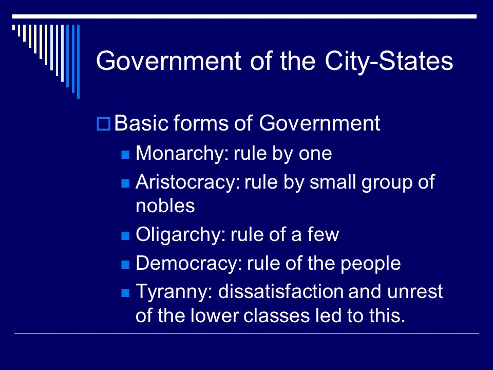 Government of the City-States