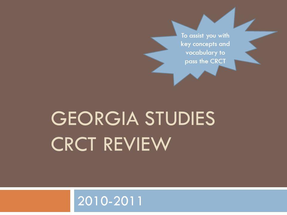 Georgia studies crct review