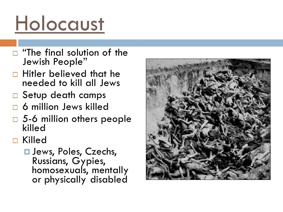 Holocaust The final solution of the Jewish People