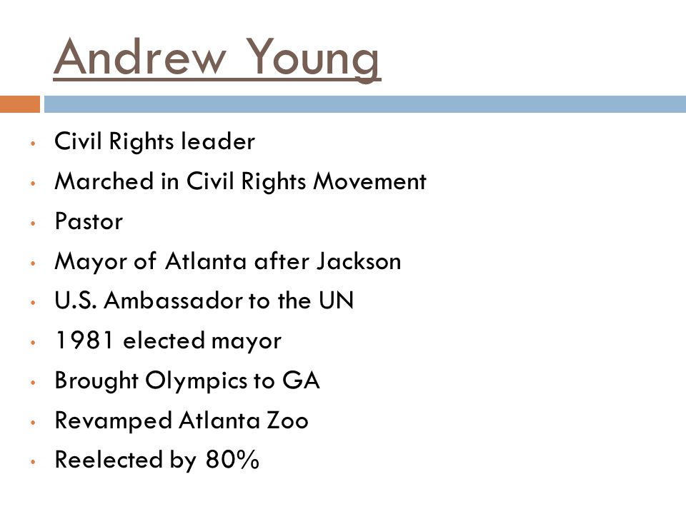 Andrew Young Civil Rights leader Marched in Civil Rights Movement