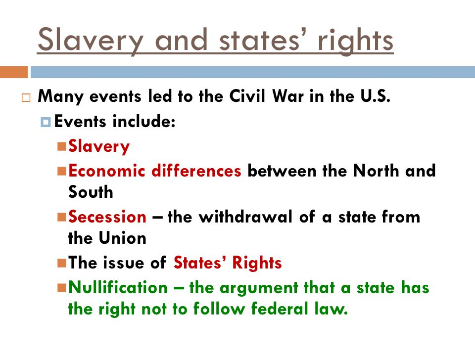 Slavery and states' rights