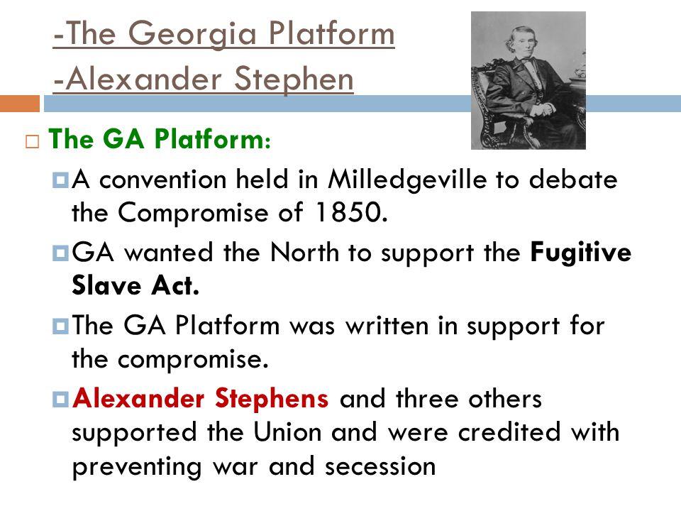 -The Georgia Platform -Alexander Stephen