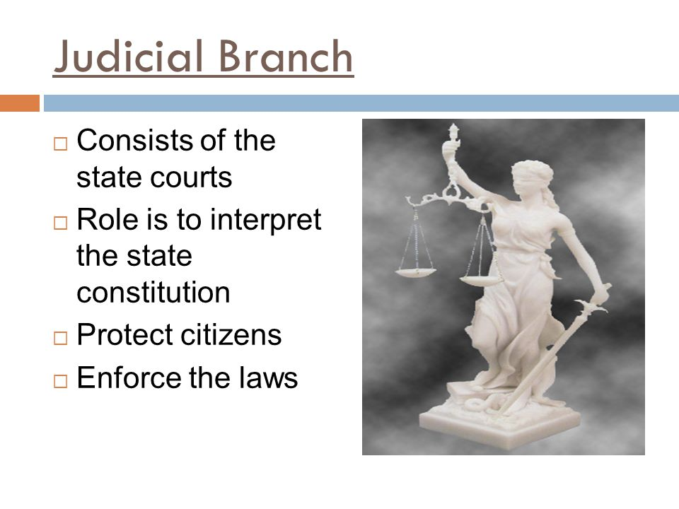 Judicial Branch Consists of the state courts