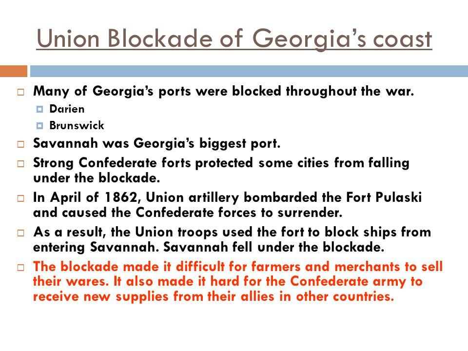 Union Blockade of Georgia's coast