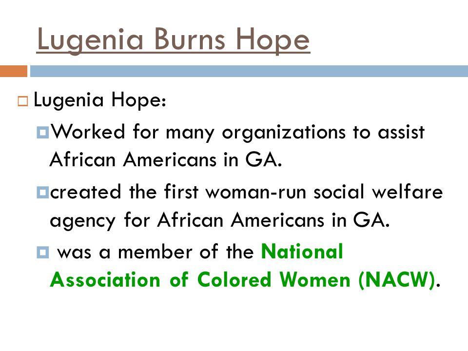 Lugenia Burns Hope Lugenia Hope: