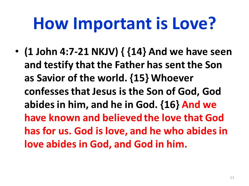 How Important is Love