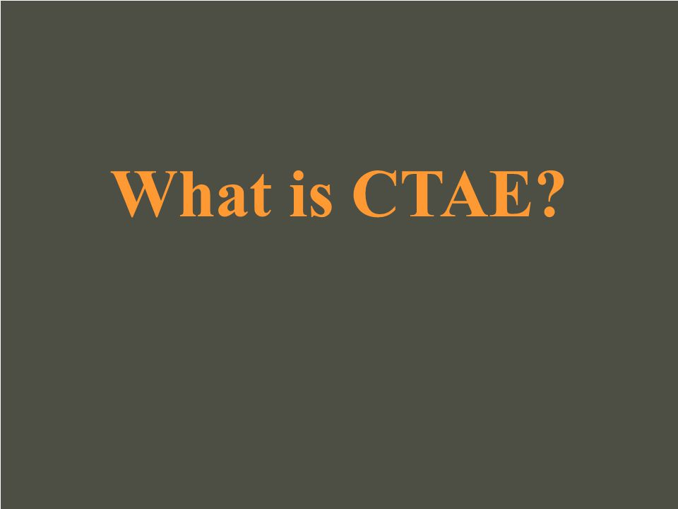 What is CTAE