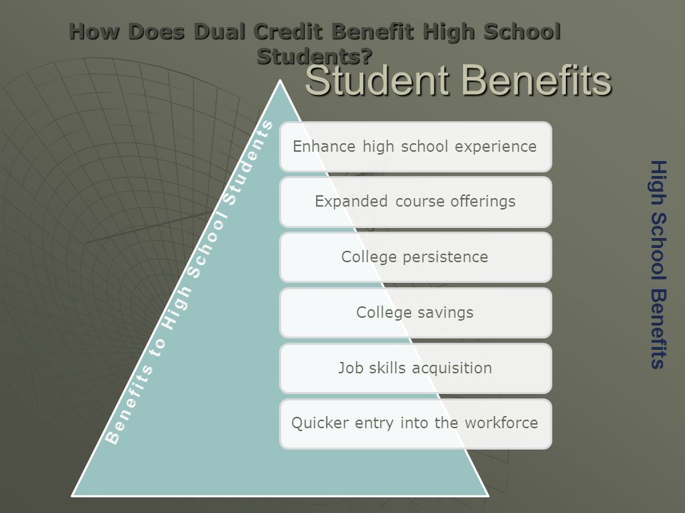 Student Benefits How Does Dual Credit Benefit High School Students