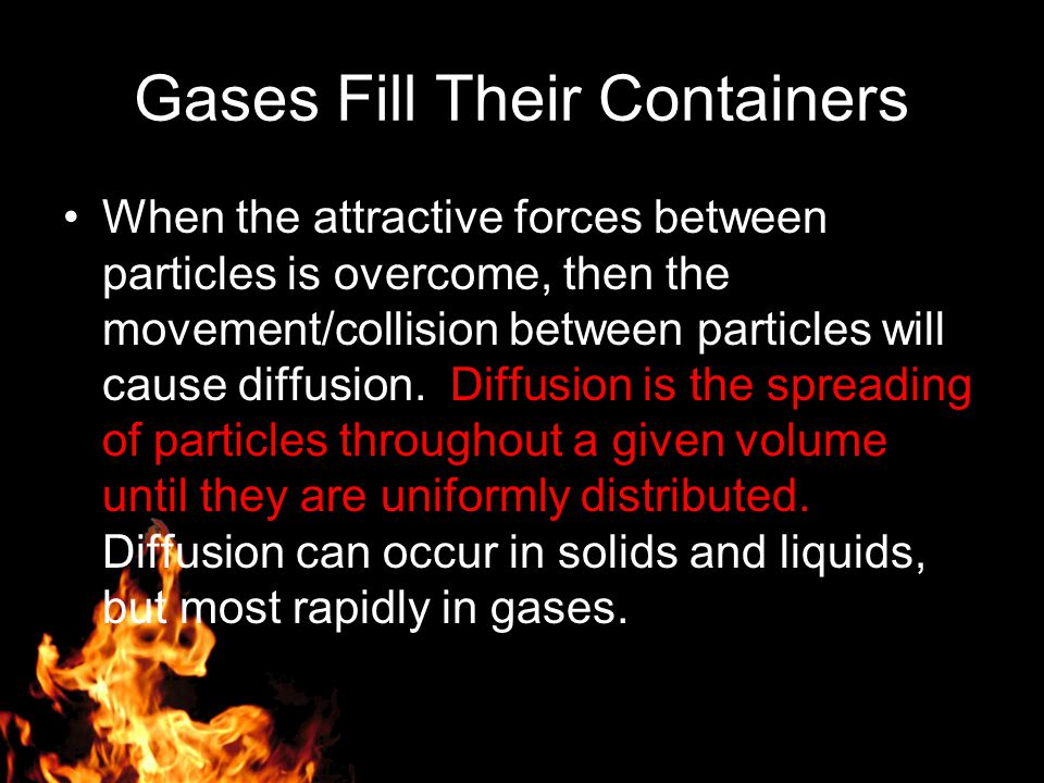 Gases Fill Their Containers