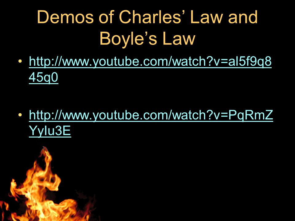 Demos of Charles' Law and Boyle's Law