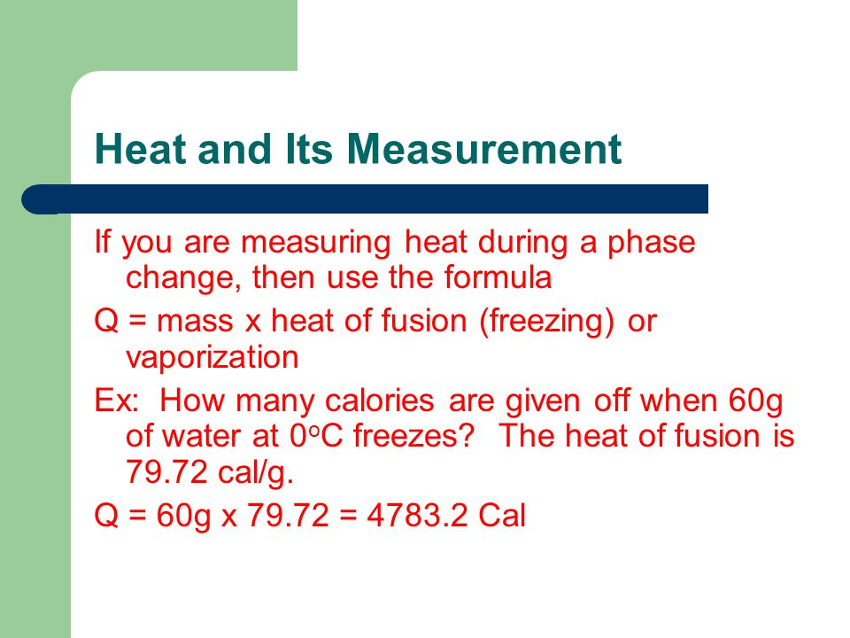 Heat and Its Measurement