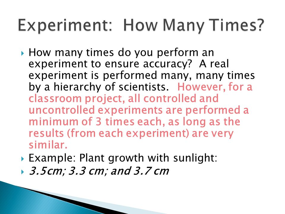 Experiment: How Many Times