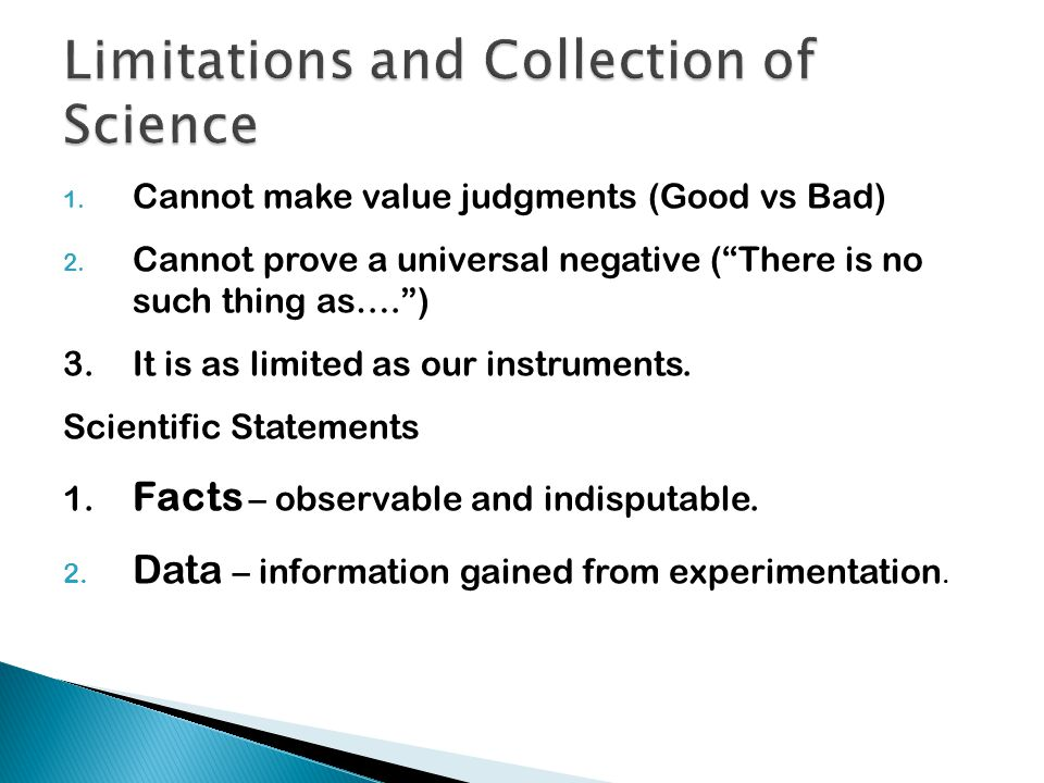Limitations and Collection of Science