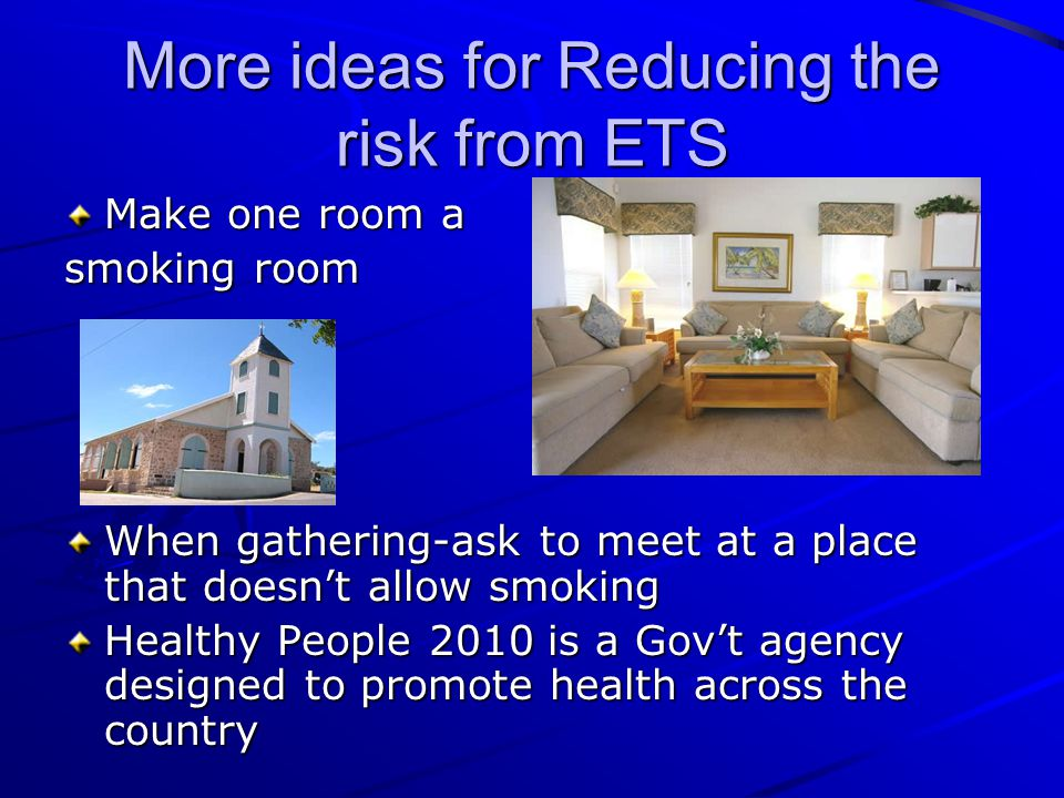More ideas for Reducing the risk from ETS