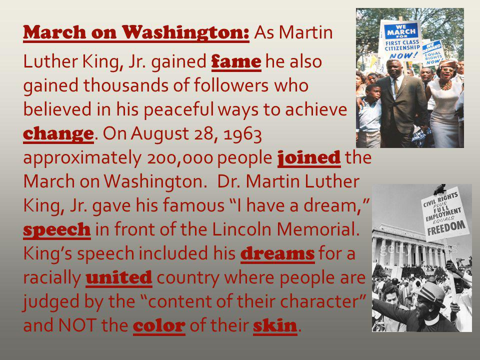 March on Washington: As Martin