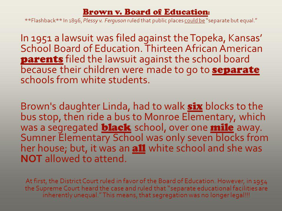 Brown v. Board of Education: