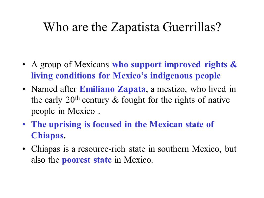 Who are the Zapatista Guerrillas