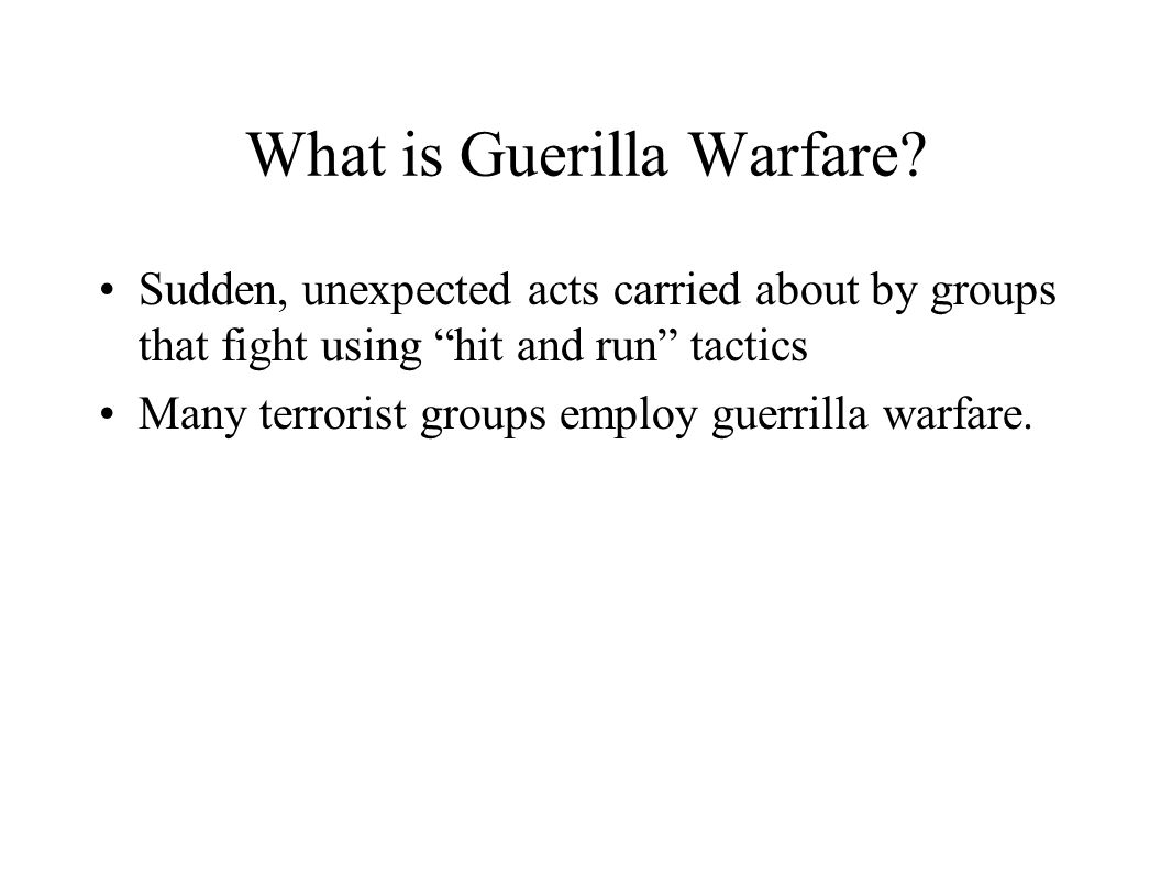What is Guerilla Warfare