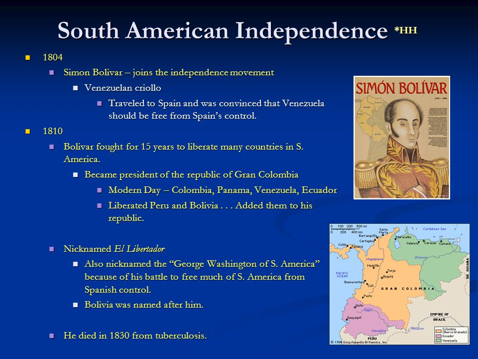 South American Independence *HH