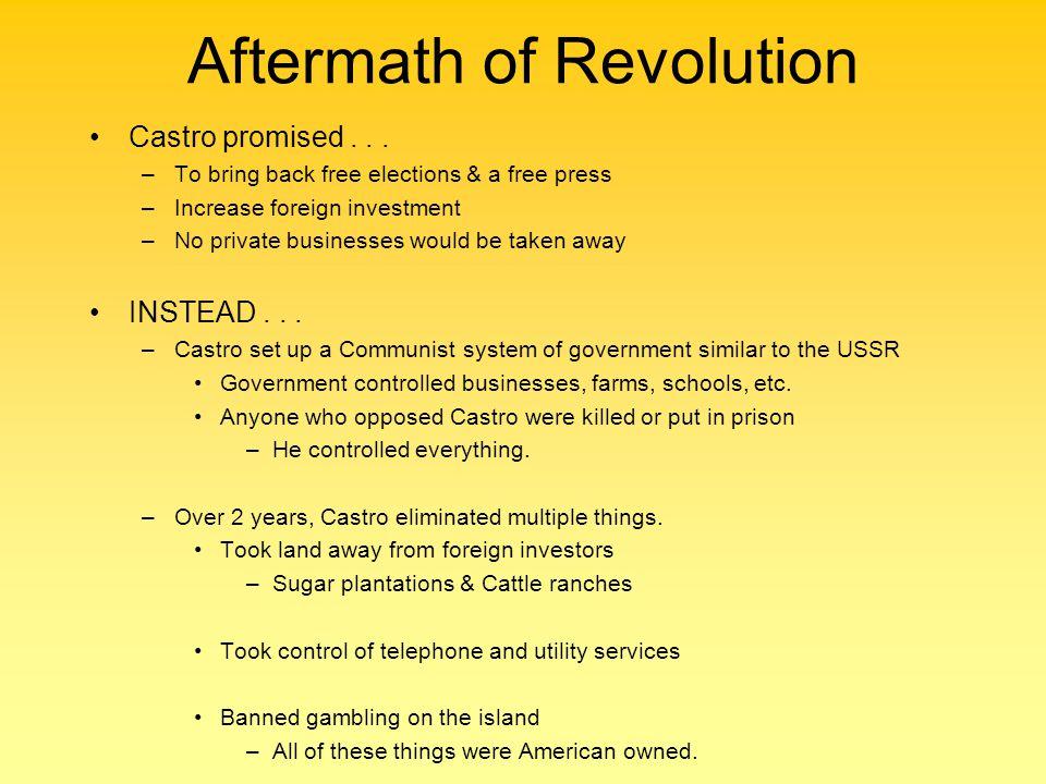 Aftermath of Revolution