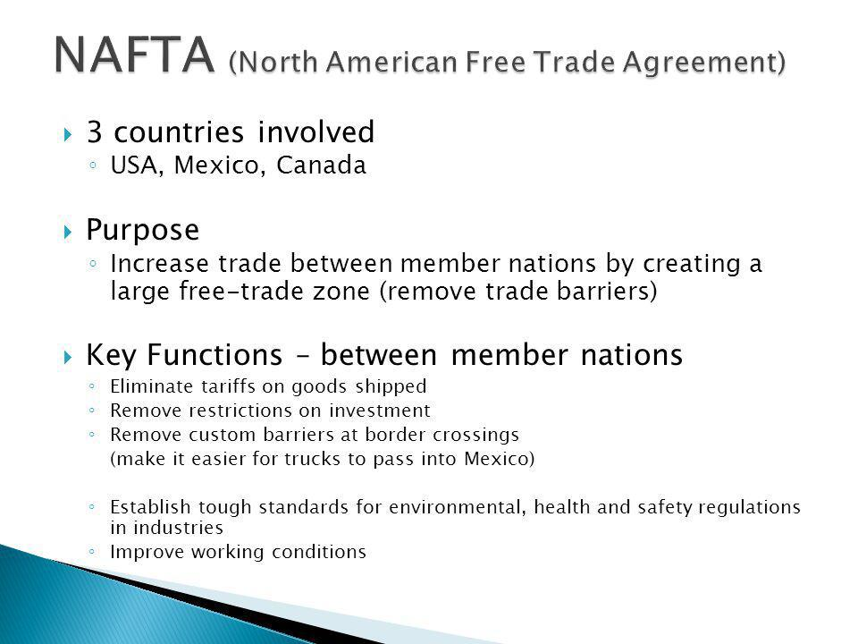 North American Free Trade Agreement History Purpose Mandegarfo