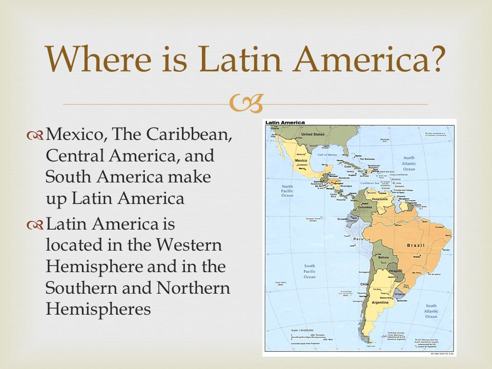 Where is Latin America Mexico, The Caribbean, Central America, and South America make up Latin America.