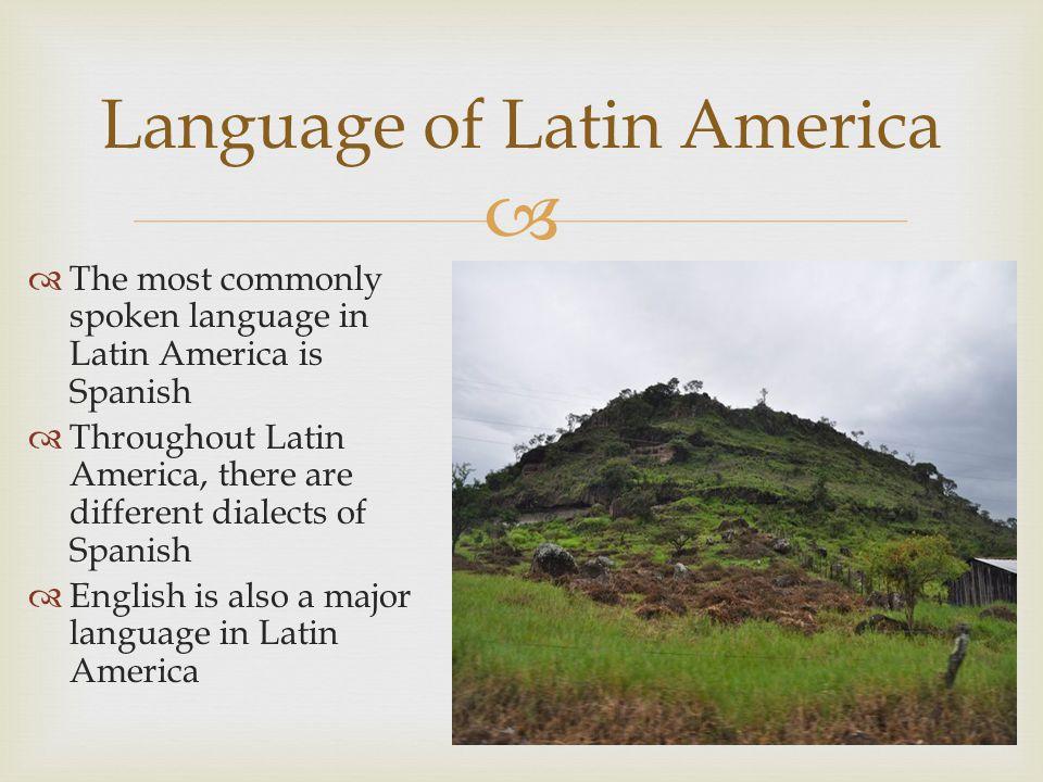 Language of Latin America