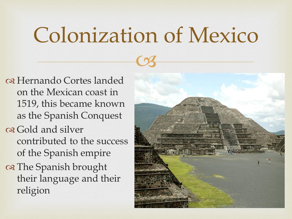 Colonization of Mexico
