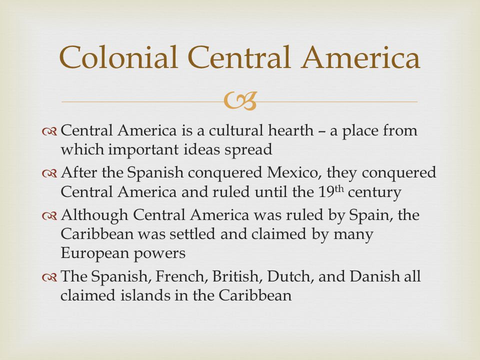 Colonial Central America