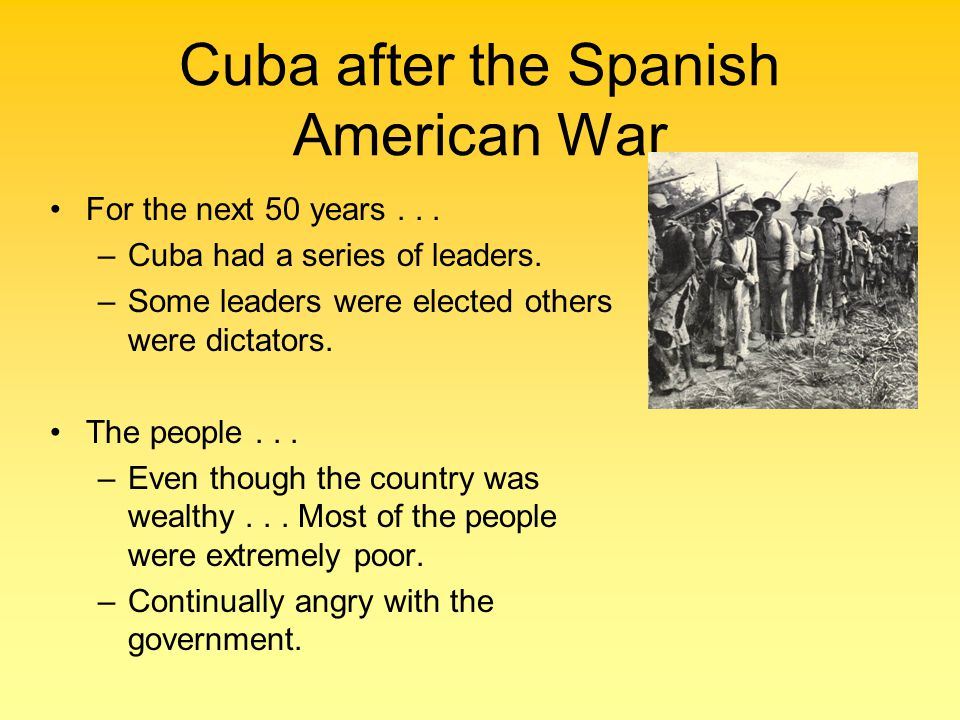 Cuba after the Spanish American War