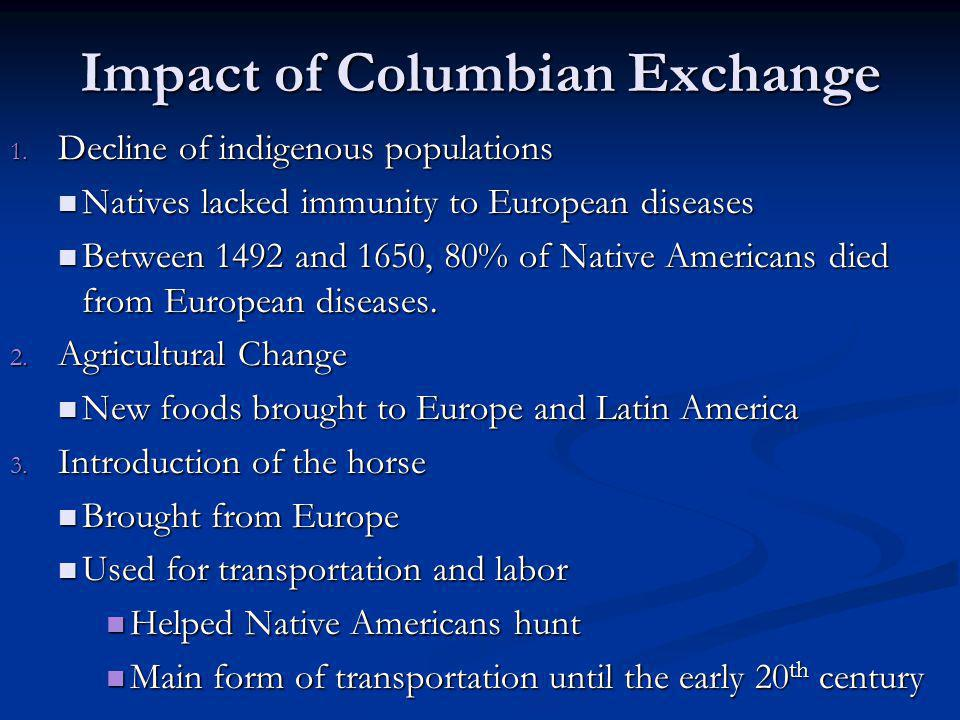 Impact of Columbian Exchange