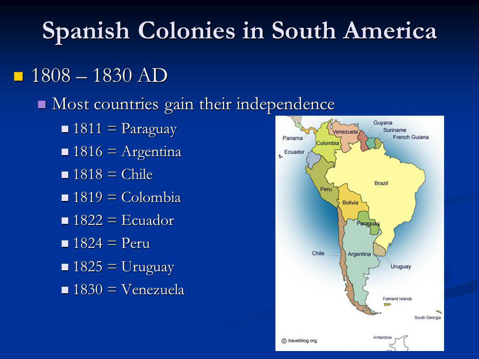 Spanish Colonies in South America
