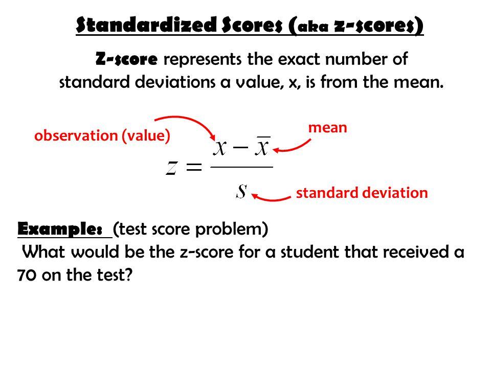 Standardized Scores (aka z-scores)