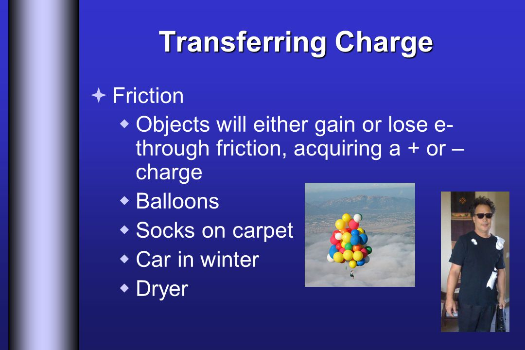 Transferring Charge Friction