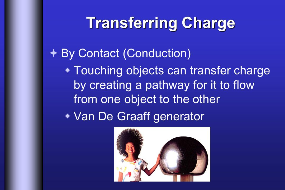 Transferring Charge By Contact (Conduction)