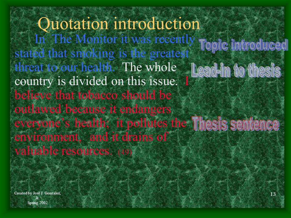 Quotation introduction