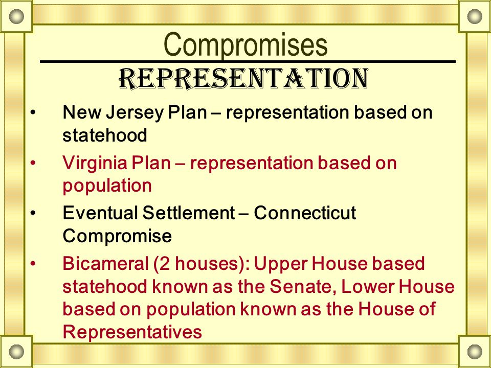 Compromises Representation