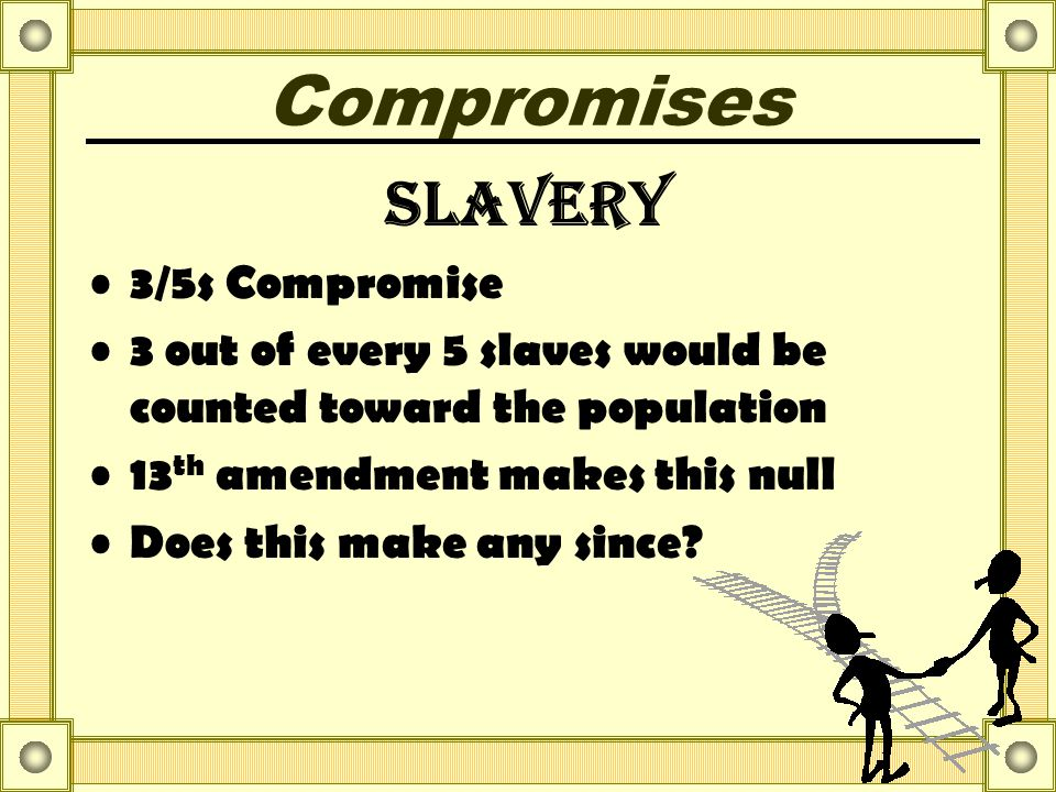 Compromises Slavery 3/5s Compromise
