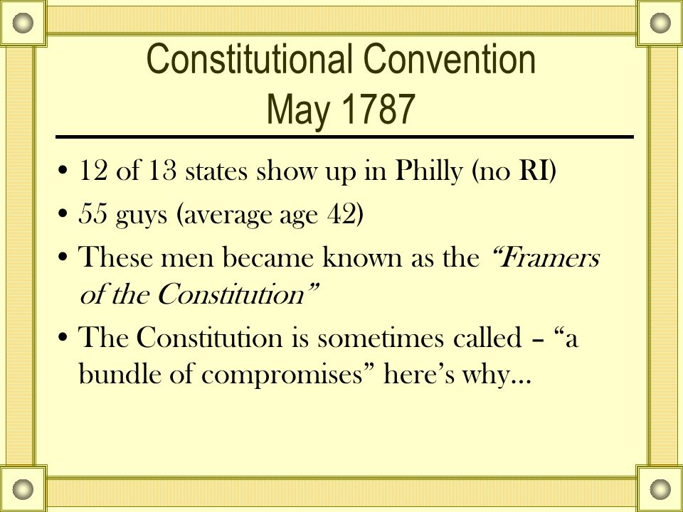 Constitutional Convention May 1787