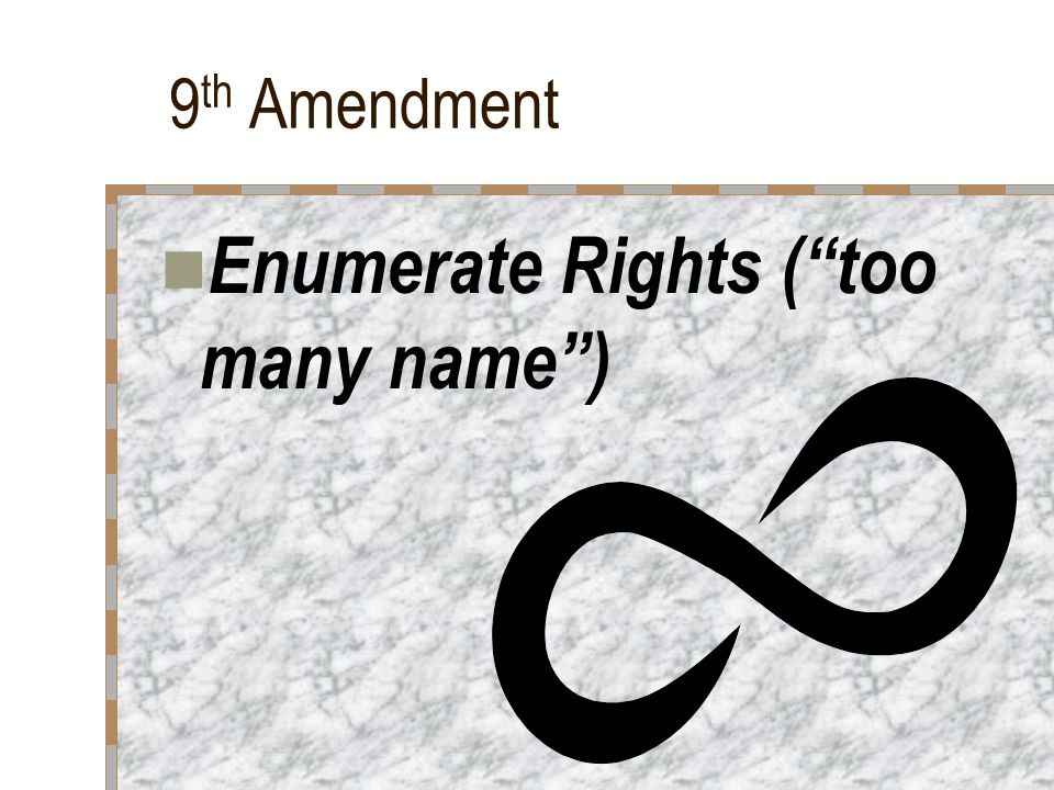 Enumerate Rights ( too many name )