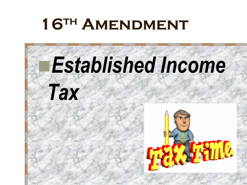 Established Income Tax