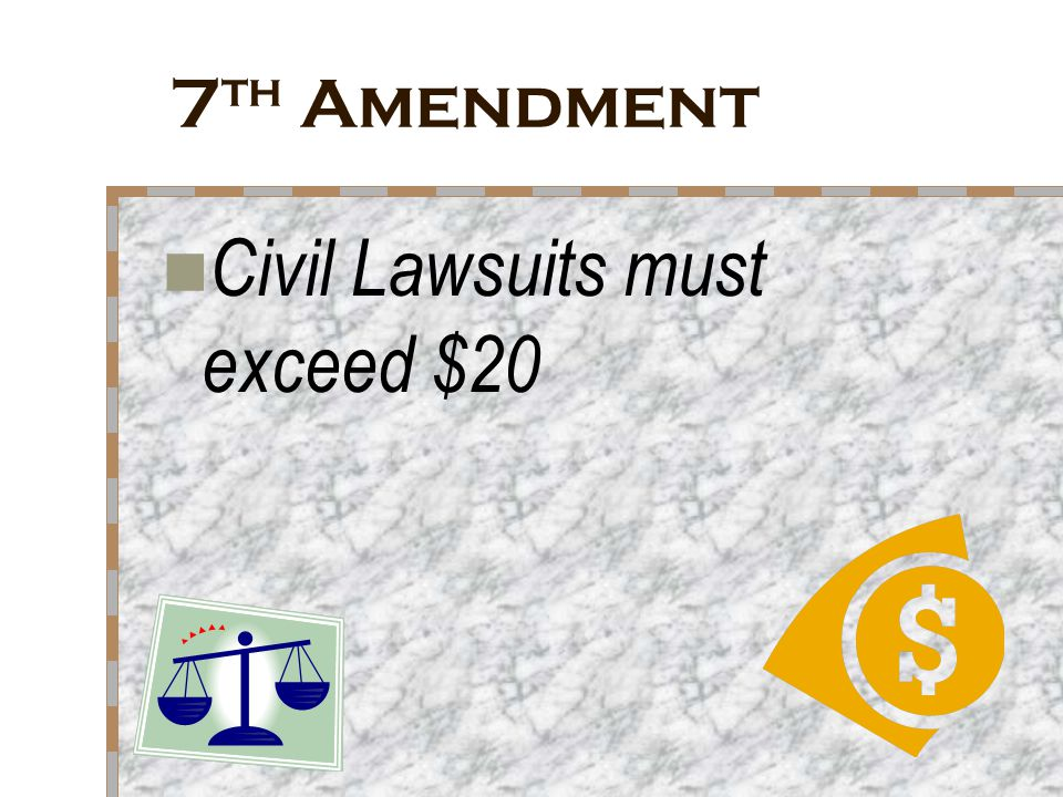 Civil Lawsuits must exceed $20