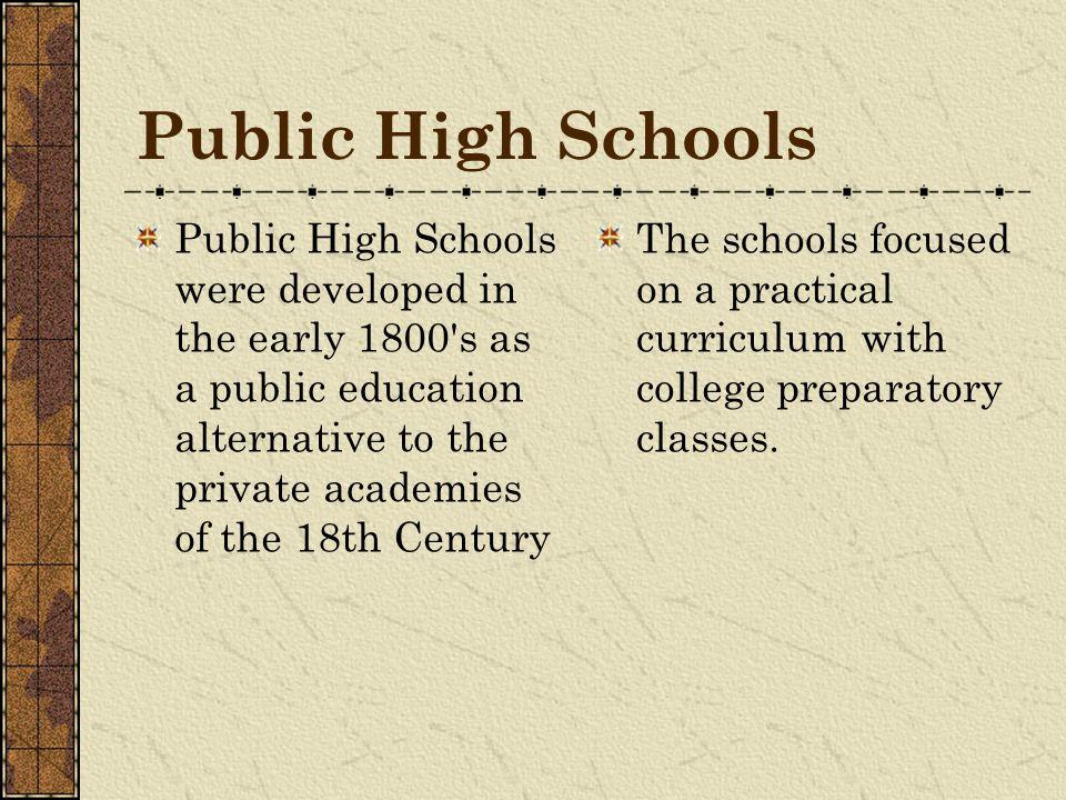 Public High Schools
