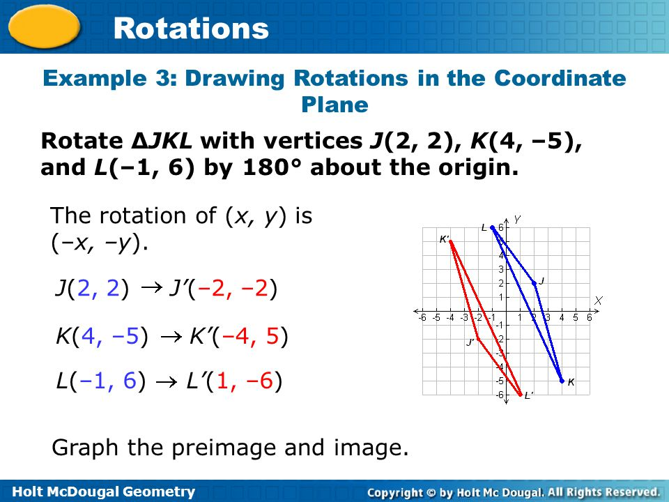 Example 3: Drawing Rotations in the Coordinate Plane