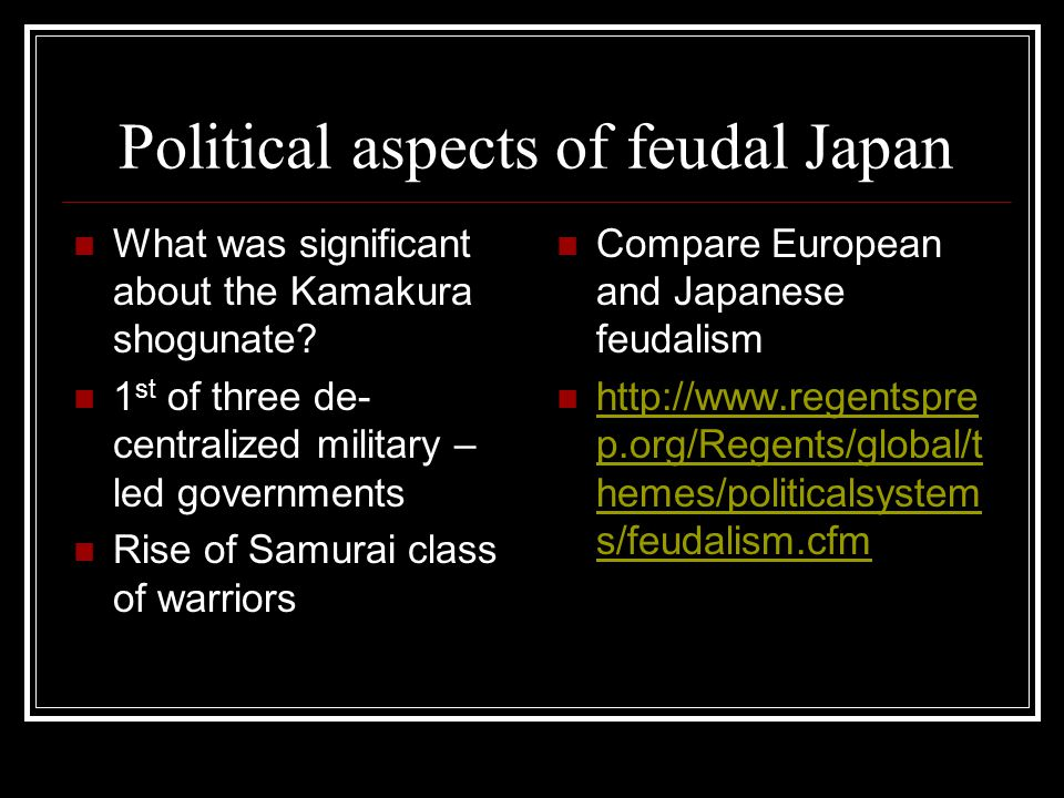 Political aspects of feudal Japan